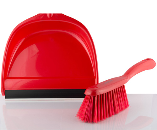 feather, red orchid dustpan