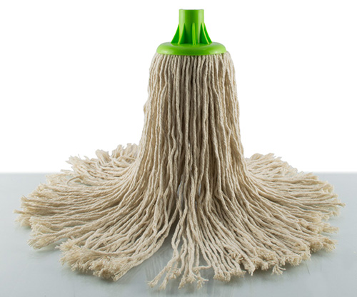 feather, green cotton floor mop