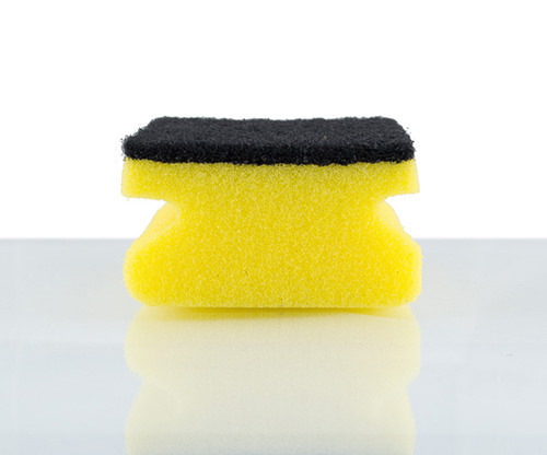 feather, sparkle scouring pad